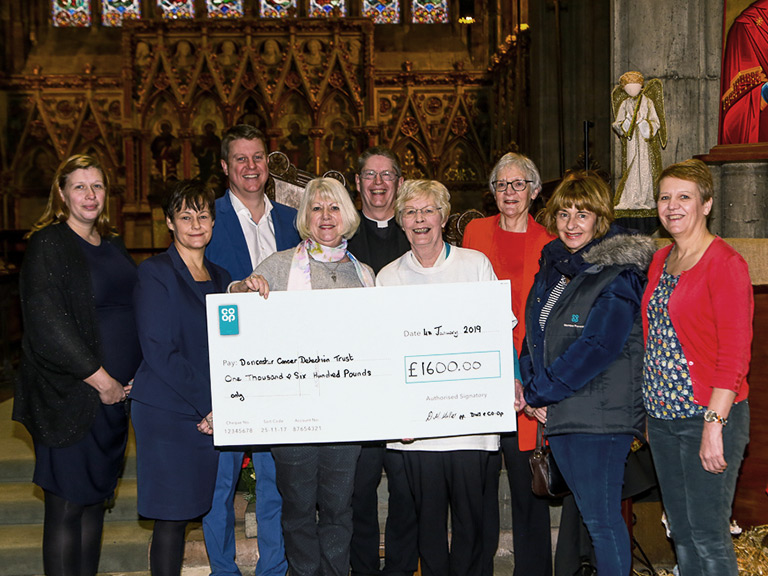 Co-op Cheque presentation