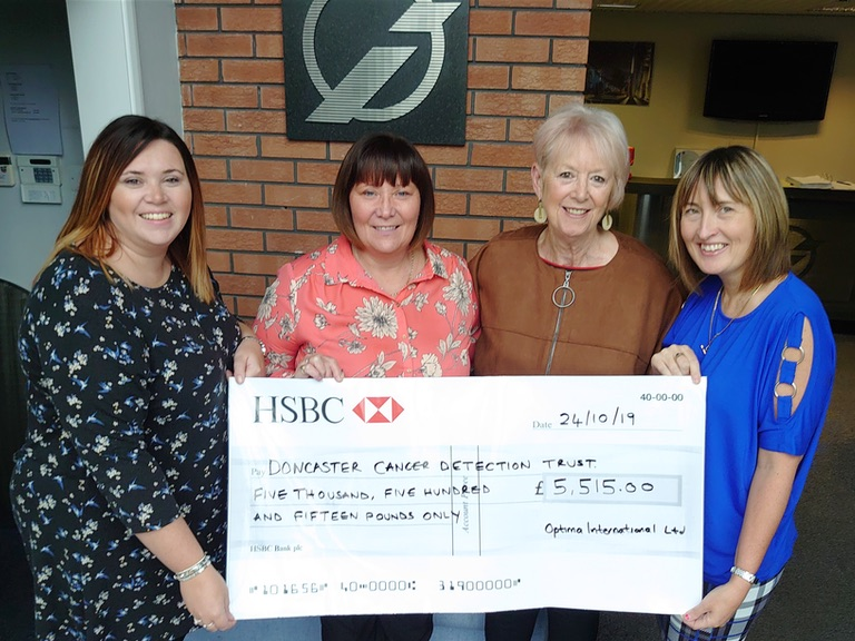 Optima International cheque presentation